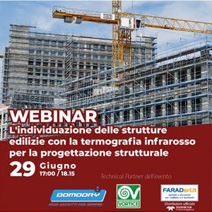 Webinar gratuito sull'individuazione delle strutture edilizie con la termografia infrarosso per la progettazione strutturale